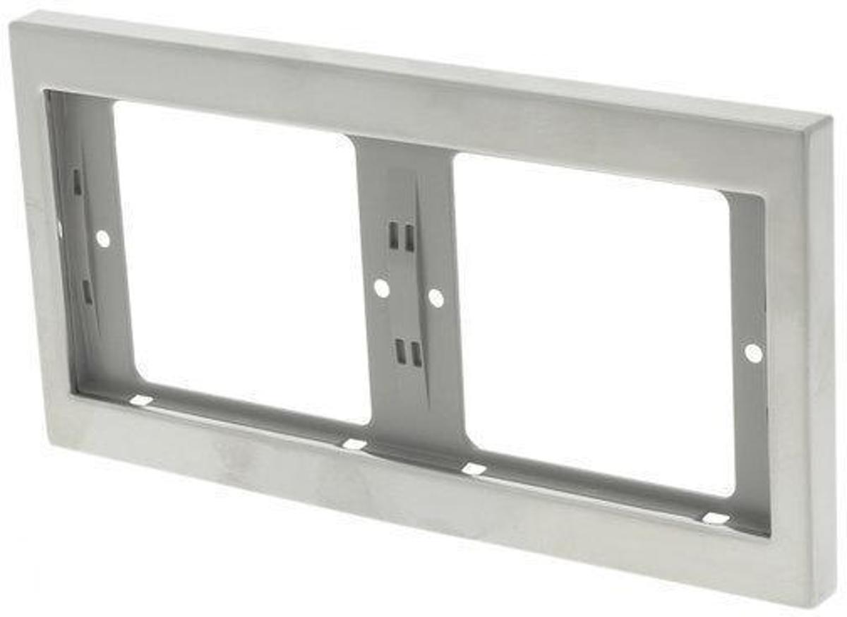 Berker K5 Inbouw Afdekplaat - 2-voudig Horizontaal - RVS
