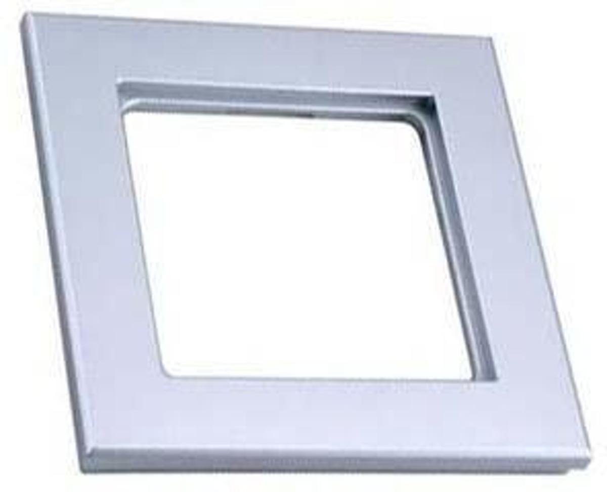 Peha Aura Inbouw Afdekplaat - 1-voudig - Aluminium