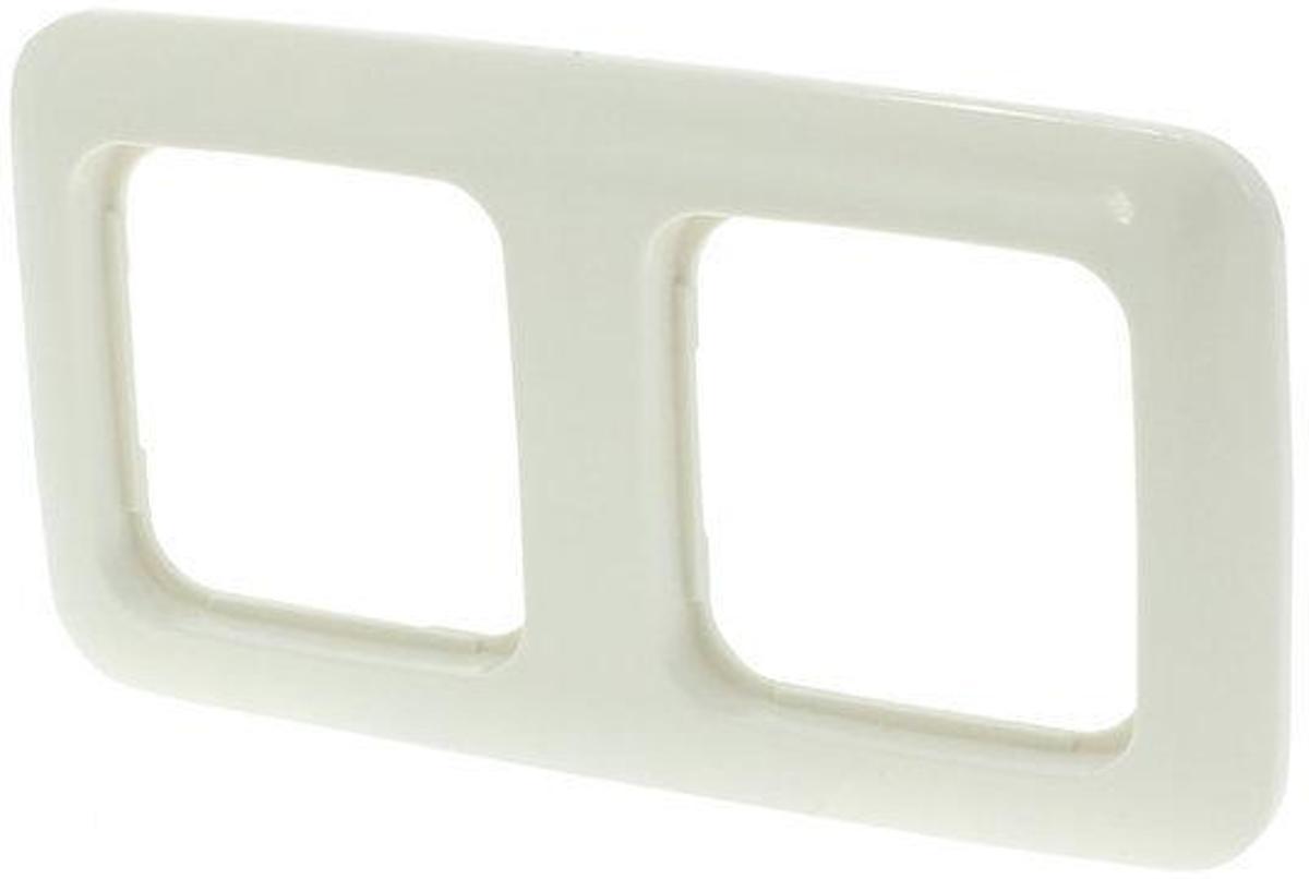 Busch-Jaeger SI Inbouw Afdekplaat - 2-voudig - Cr?me