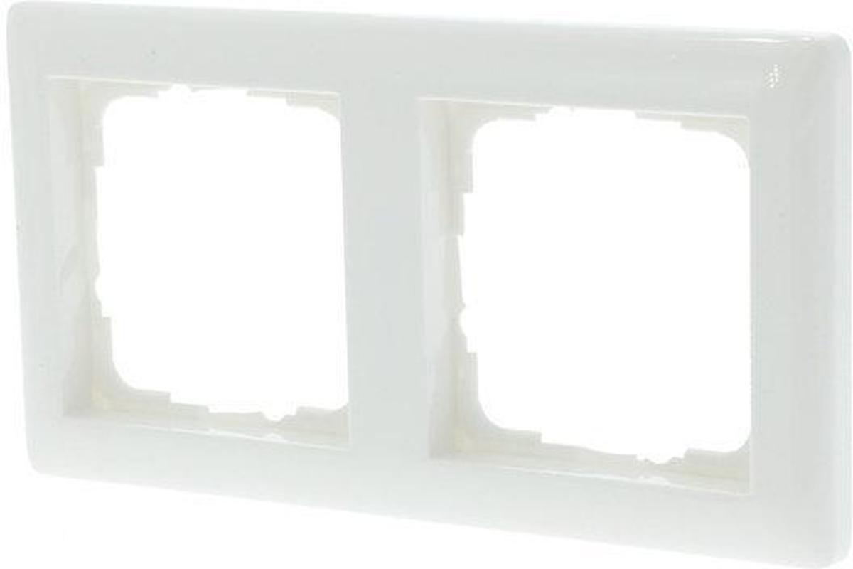 Gira SY55 Inbouw Afdekplaat - 2-voudig - Polarwit