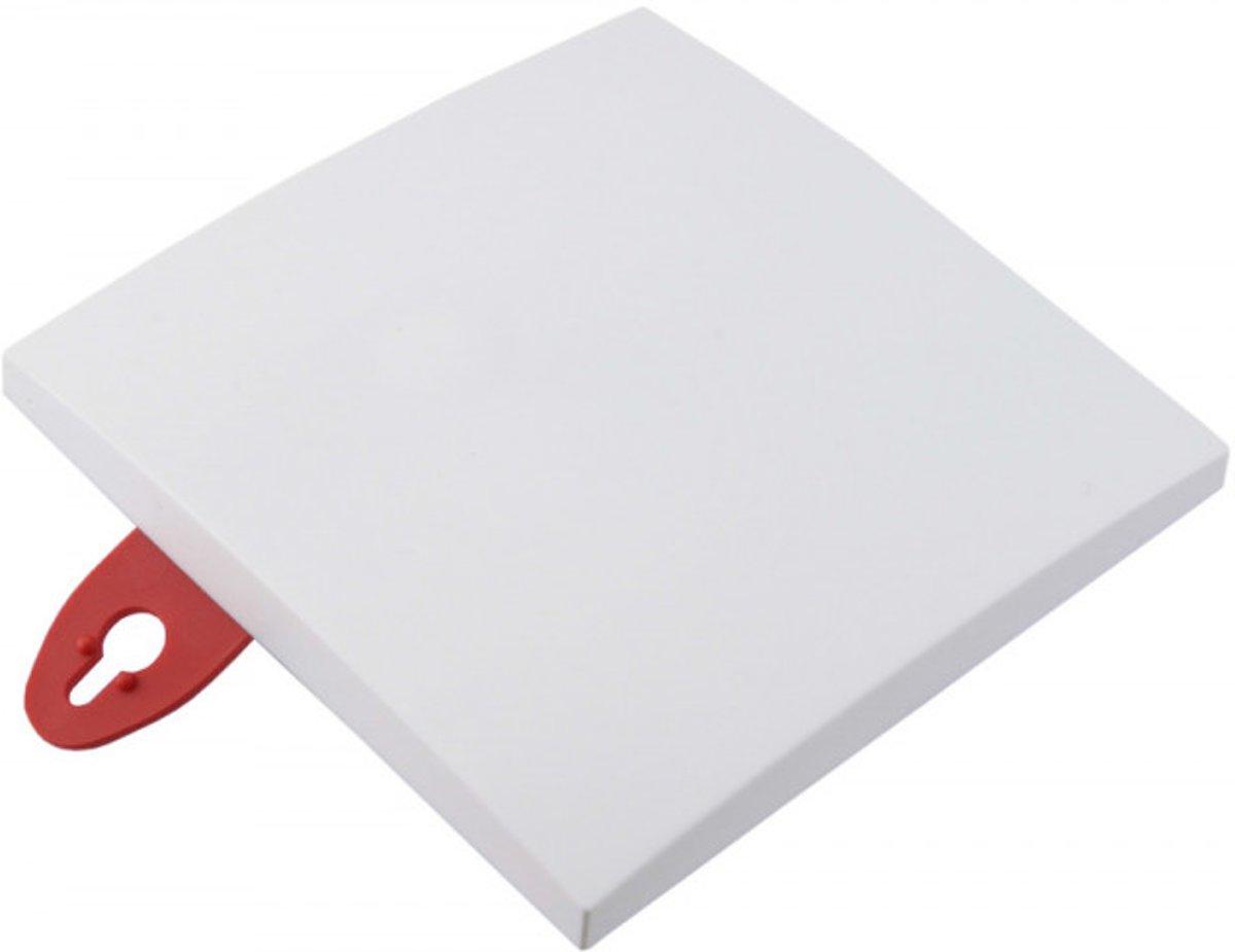 Elektrofix plafondplaat vierkant wit