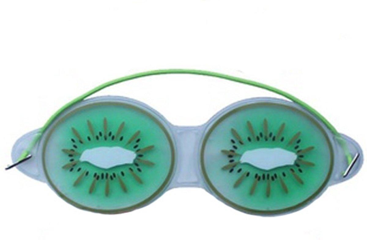 Premium Kiwi Oog Masker met Verkoelende Gel | Verkoelend voor de Vermoeide Ogen en Verwijdert Wallen | Anti Rimpel en Wallen Verwijderaar | Oogmasker met Koelende Gel | Eye Gel Mask