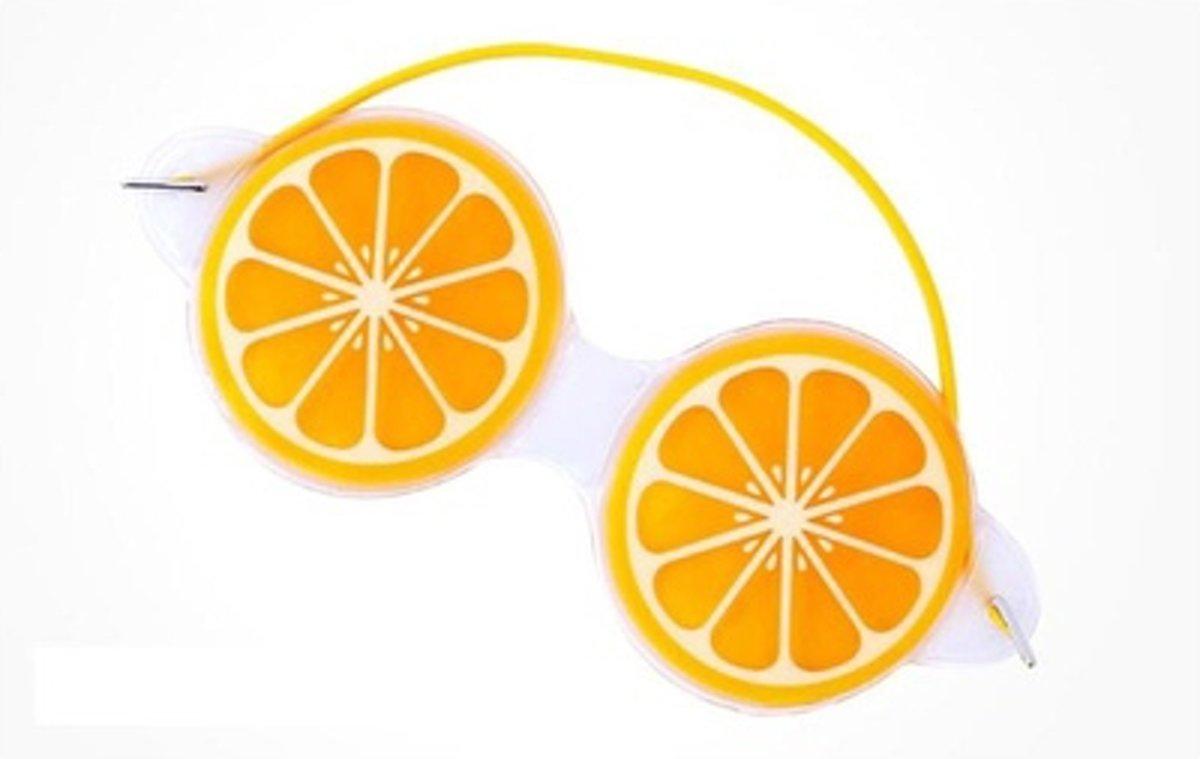 Premium Sinaasappel Oog Masker met Verkoelende Gel | Verkoelend voor de Vermoeide Ogen en Verwijdert Wallen | Anti Rimpel en Wallen Verwijderaar | Oogmasker met Koelende Gel | Eye Gel Mask