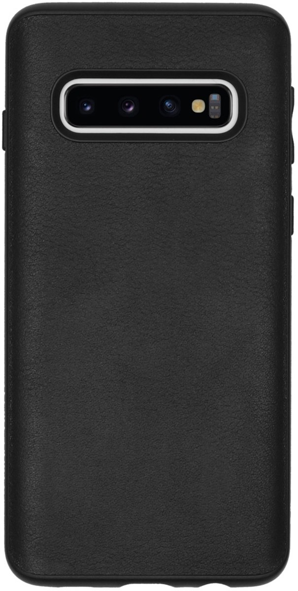 RhinoShield SolidSuit Black Leather Samsung Galaxy S10 Hoesje