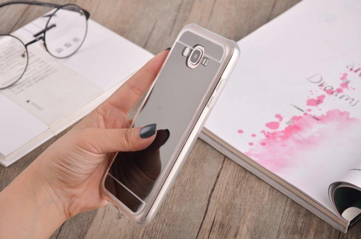 2in1 Spiegel en Hoesje voor Samsung Galaxy S8 - Grijs