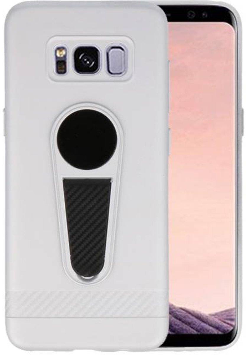 Microfoon series hoesje Samsung Galaxy S8 Zilver