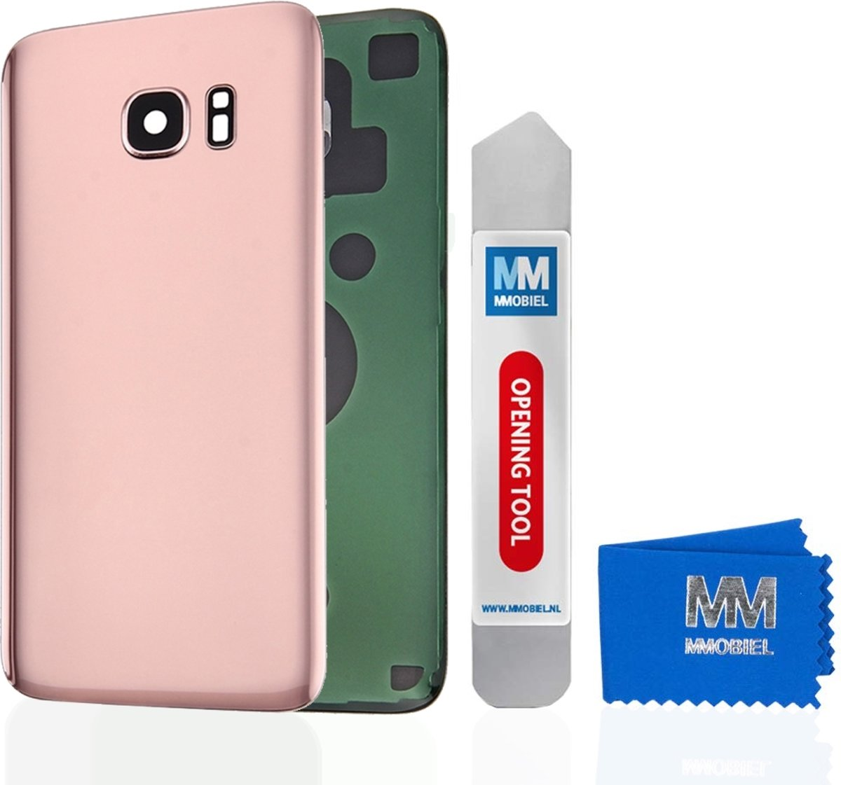 MMOBIEL Back Cover incl. Lens voor Samsung Galaxy S7 Edge G935 (ROSE GOUD) Achterkant Behuizing