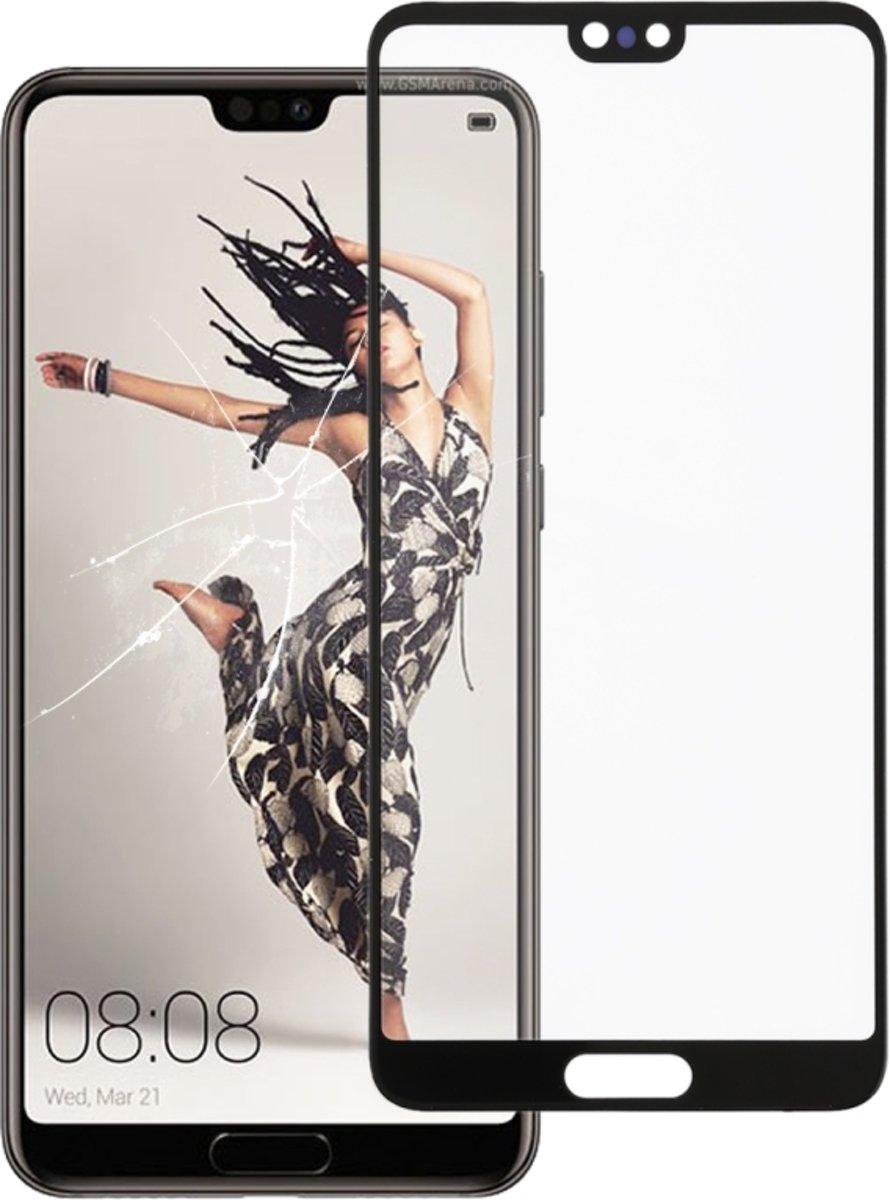 Voorste scherm buitenste glaslens voor Huawei P20 (zwart)