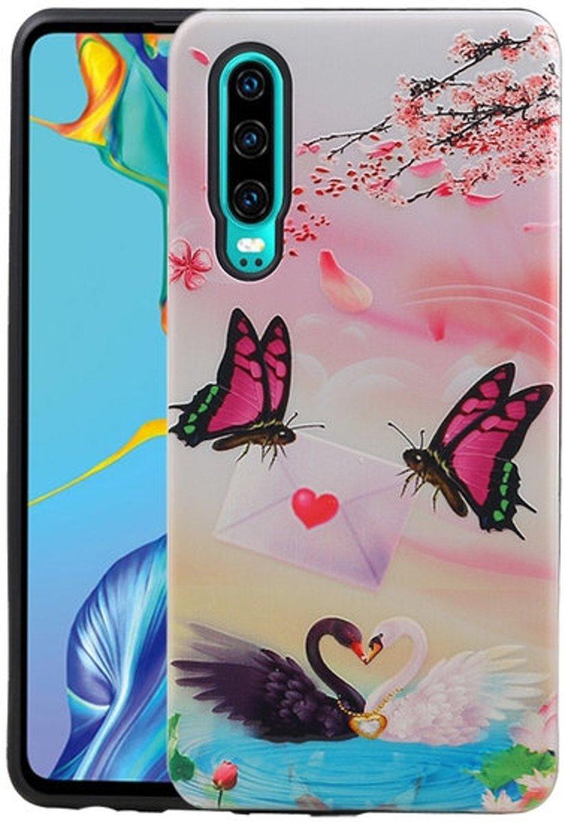 Vlinder Design Hardcase Backcover voor Huawei P30