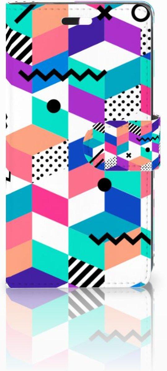 Huawei Y635 Boekhoesje Design Blocks Colorful