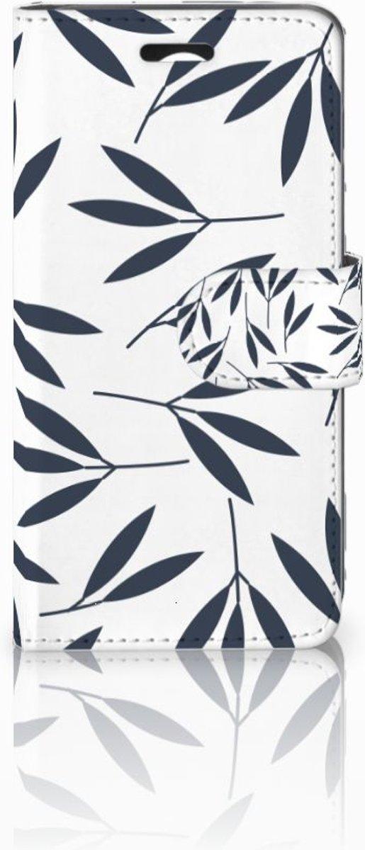 Huawei Y3 2 | Y3 II Boekhoesje Design Leaves Blue