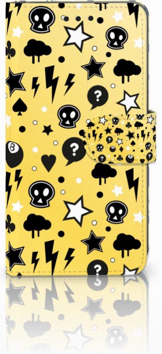 Huawei P20 Uniek Boekhoesje Punk Yellow