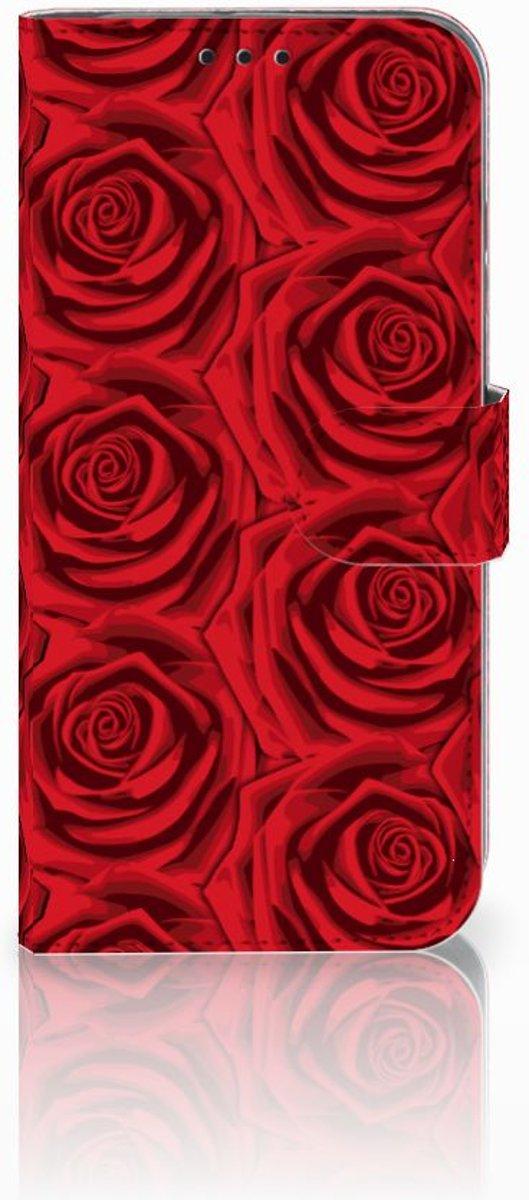 Huawei P Smart 2019 Uniek Boekhoesje Red Roses