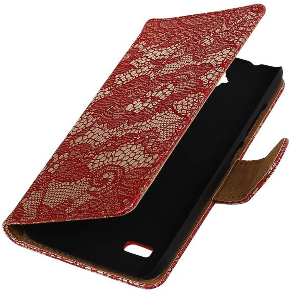 Huawei Huawei Ascend Y560 / Y5 Rood | Lace bookstyle / book case/ wallet case Hoes  | WN?