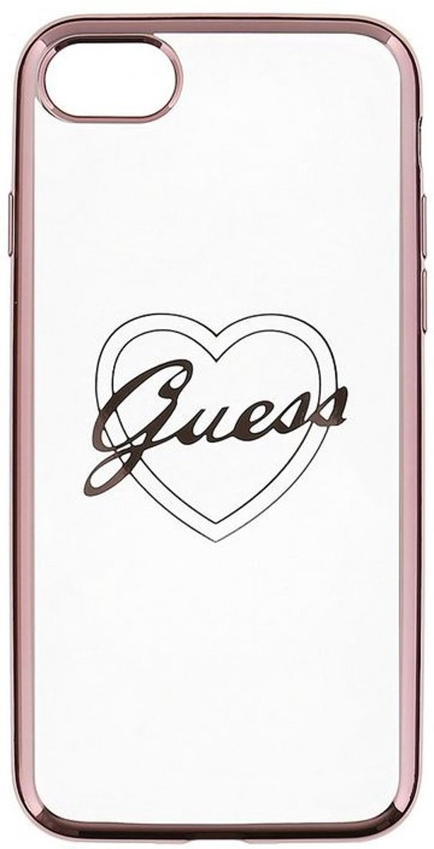 Guess Apple iPhone 7/8 Heart TPU case - Rose Gold