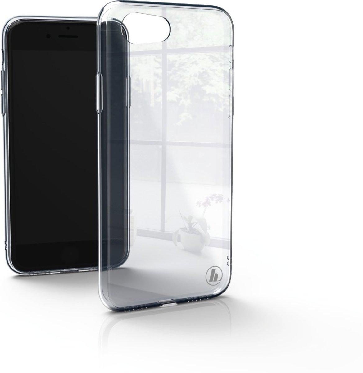 Hama Glass GSM backcover Geschikt voor model (GSMs): Apple iPhone 7, Apple iPhone 8 Transparant