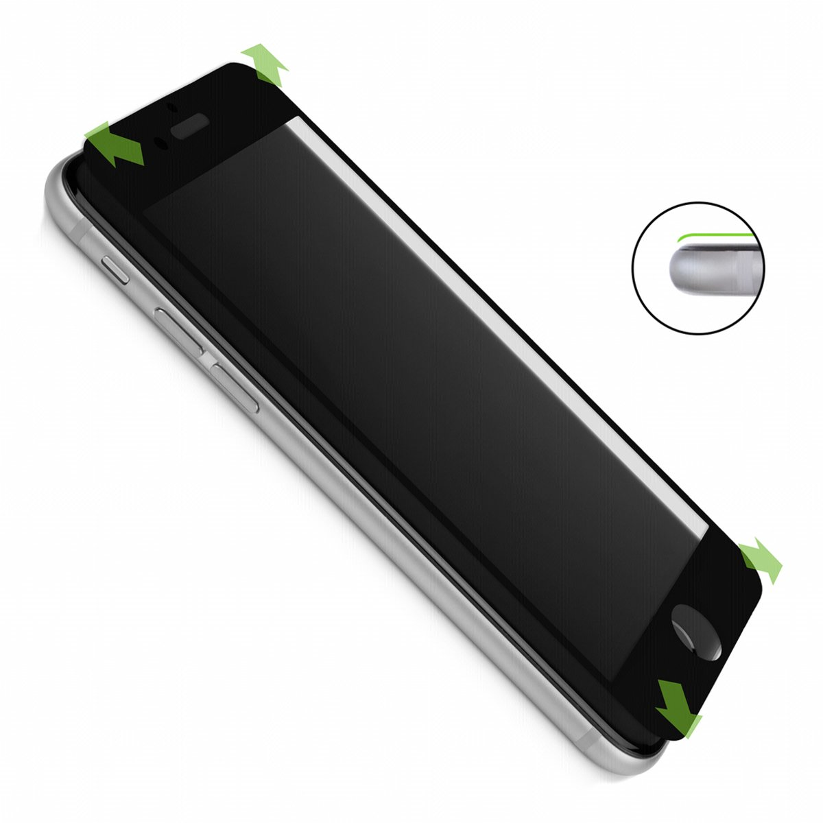CASEual Full Glass V2 iPhone 6/6s, zwart