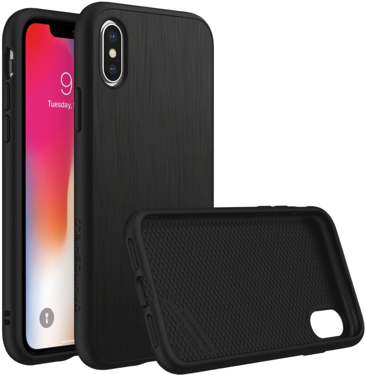 RhinoShield SolidSuit Brushed Steel iPhone X Hoesje