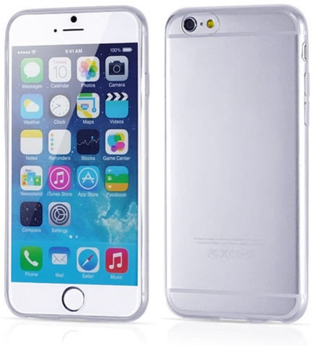 Apple iPhone 6S Silicone Case hoesje Transparant