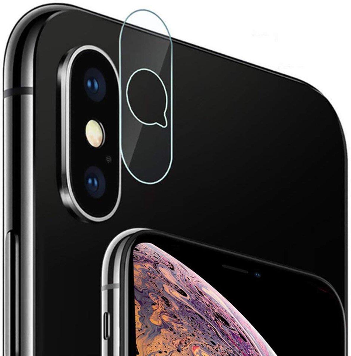 Camera Lens Screenprotector voor Apple iPhone Xs Max Glazen Gehard   Case Friendly   Tempered Glass - van iCall