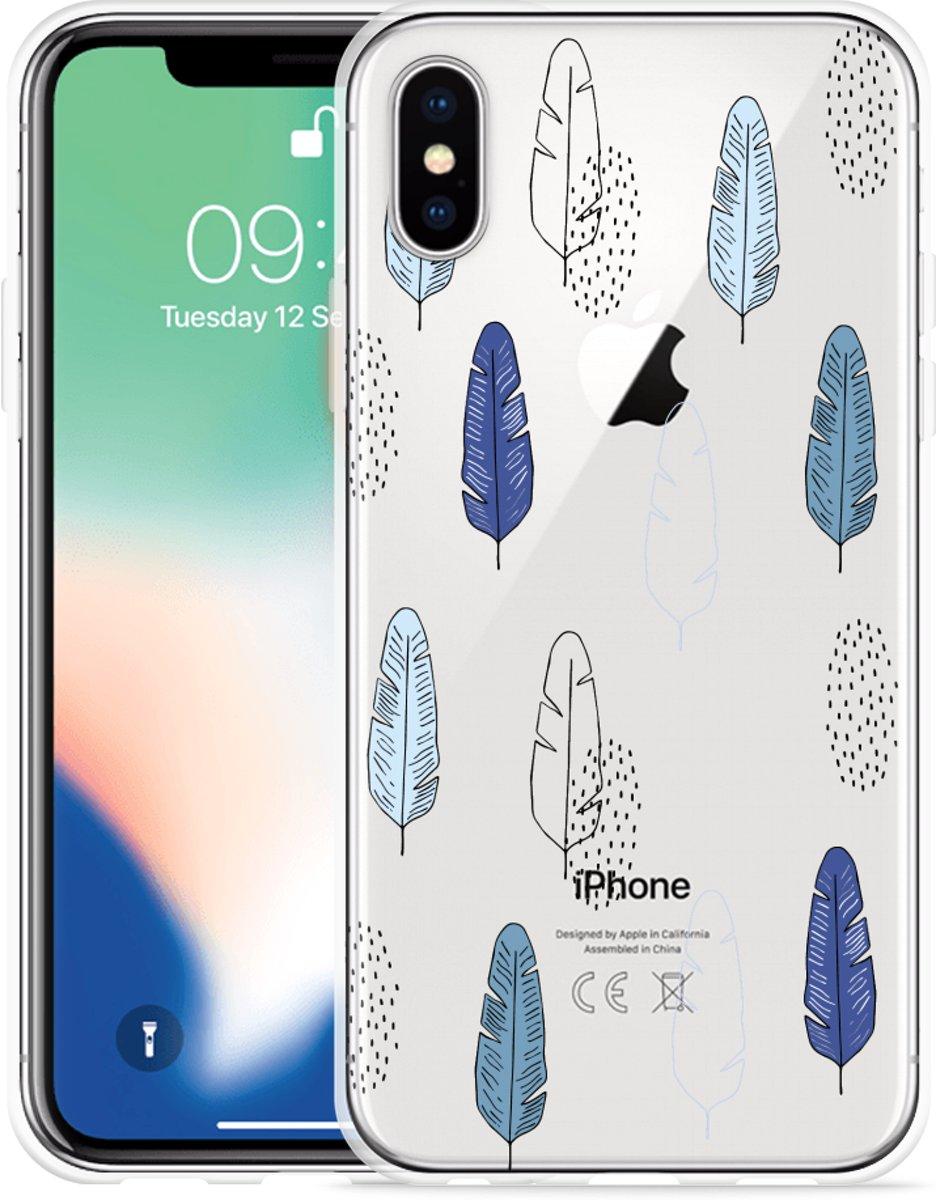 Apple iPhone X / Xs Hoesje Feathers Pattern