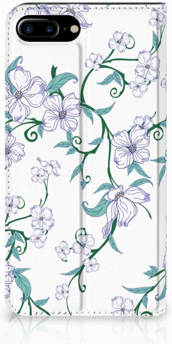 Apple iPhone 7 Plus | 8 Plus Uniek Standcase Hoesje Blossom White
