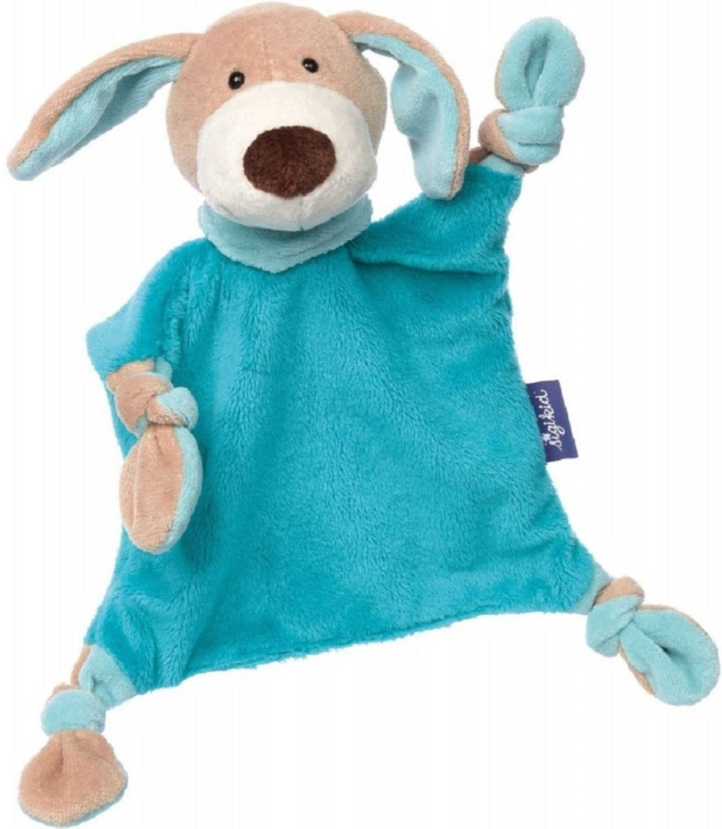 sigikid blauwe collectie knuffeldoekje hond pastel 41854
