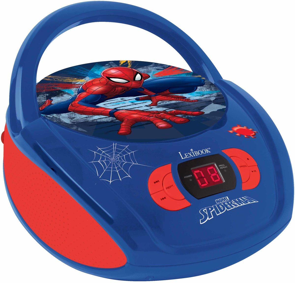 Lexibook Radio CD player Spider Man Draagbare cd-speler Blauw, Rood
