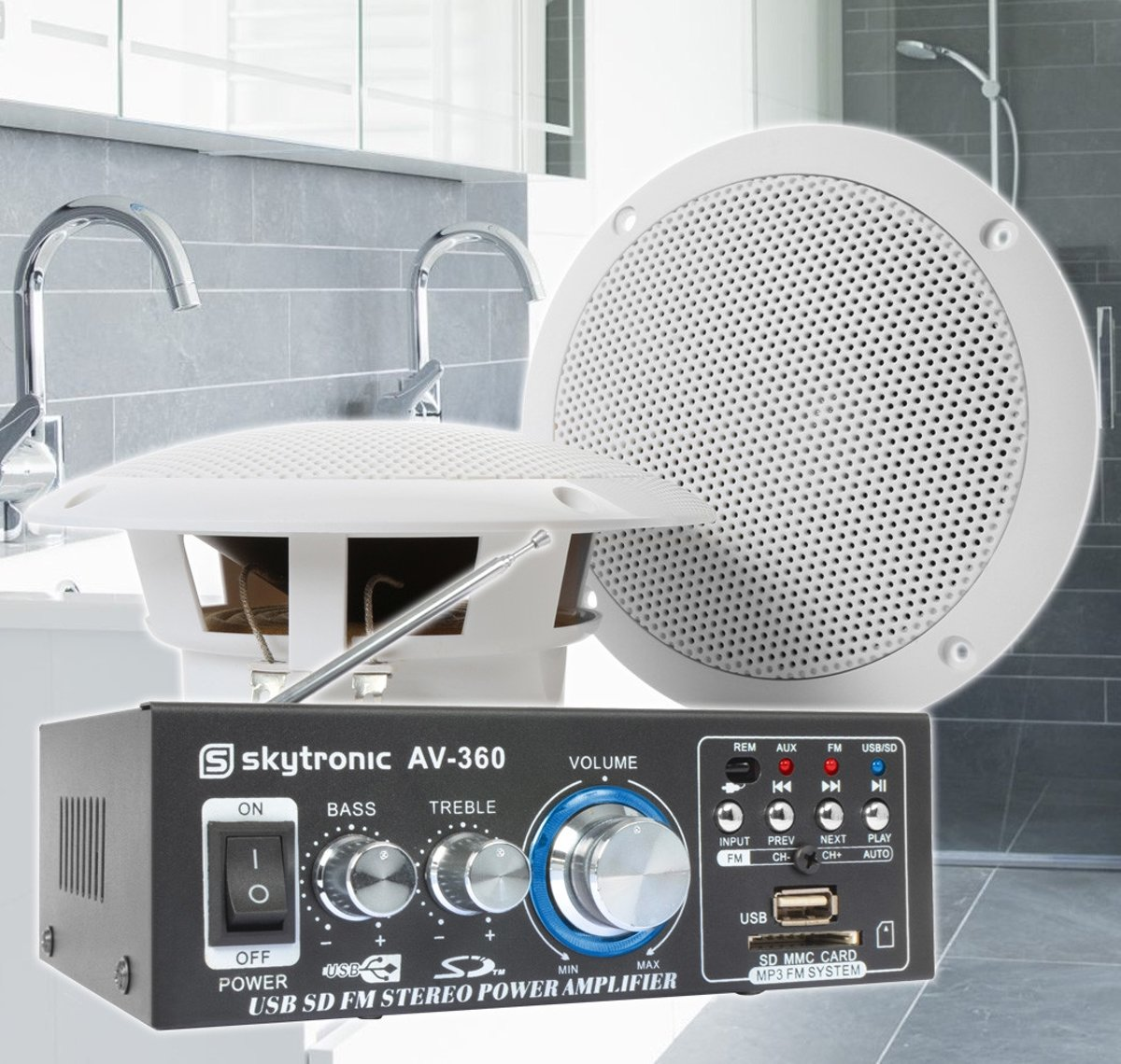 SkyTronic badkamer speakerset 5
