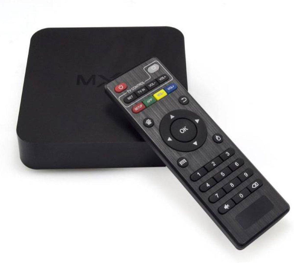 MXQ Android TV Multimedia Player Streamer Stream Box compatibel met Kodi - 1GB RAM - 2GB Opslagruimte