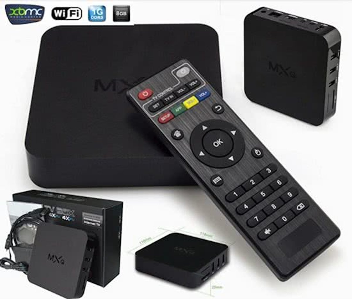 MXQ TV box android + kodi Full HD