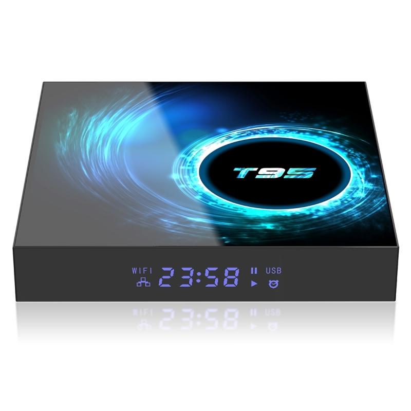 T95 6K UHD Smart TV box met afstandsbediening Android 10 0 H616 Quad-Core Cortex-A53 4GB + 32GB ondersteuning WiFi/AV/HDMI/RJ45/USB/TF-kaart