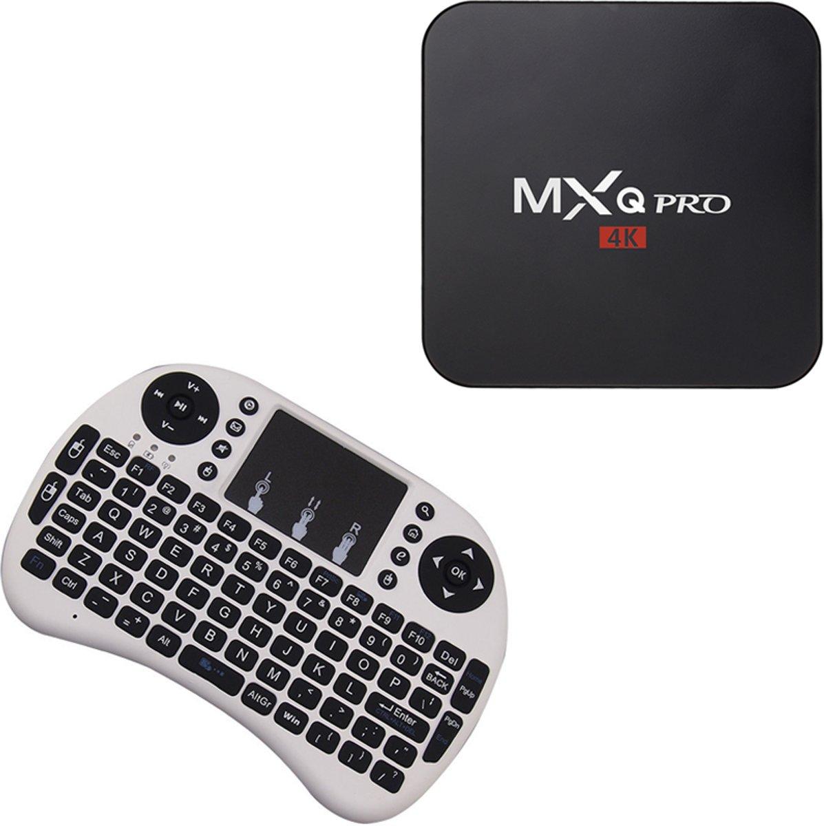MXQ PRO 4K Android TV Box s905 Kodi 16.1 Android 5.1 - 1GB 8GB + GRATIS Rii i8 WIT WIRELESS KEYBOARD AIRMOUSE