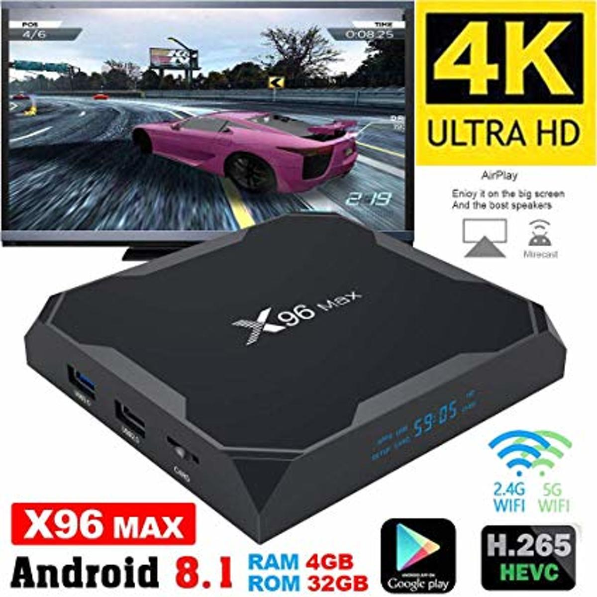 Android Mediaplayer 4gb ddr X96 MAX AMLOGIC S905X2 Quadcore 2.0Ghz Android 8.1