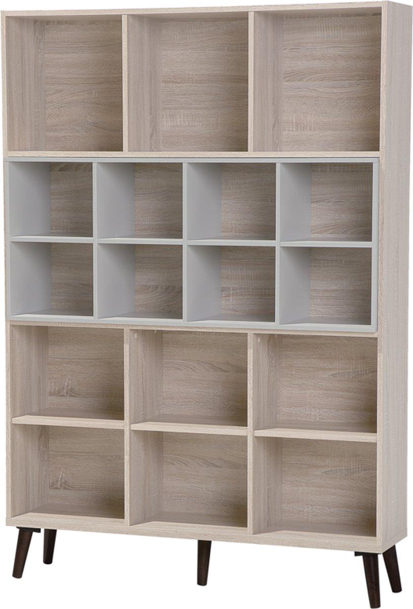 Beliani ALLOA - Boekenkast - Licht houtkleur - Spaanplaat