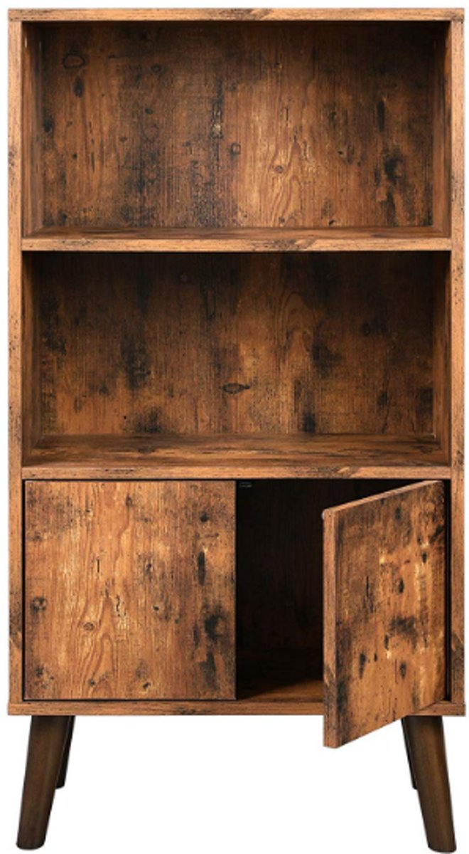 MIRA - Vintage boekenkast   Planken   Opbergruimte