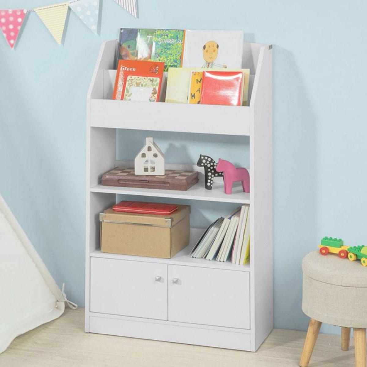 Boekenkast | Kinderen | Wit | 60x107x24cm