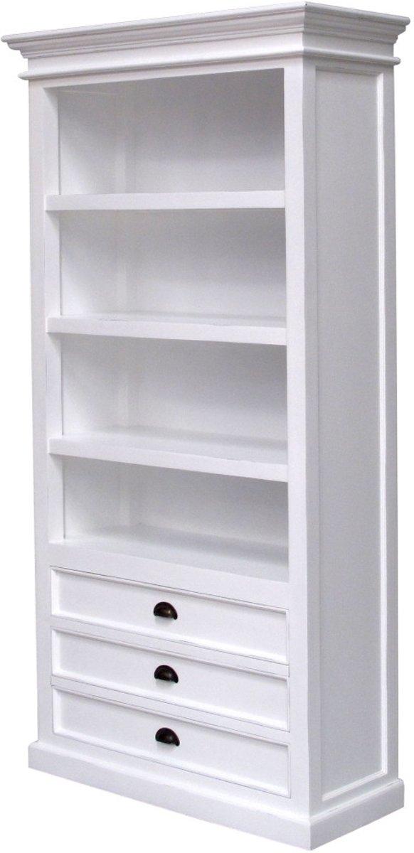 Nova Solo - Boekenkast - mahoniehout - wit - 110bx40dx190 hoog