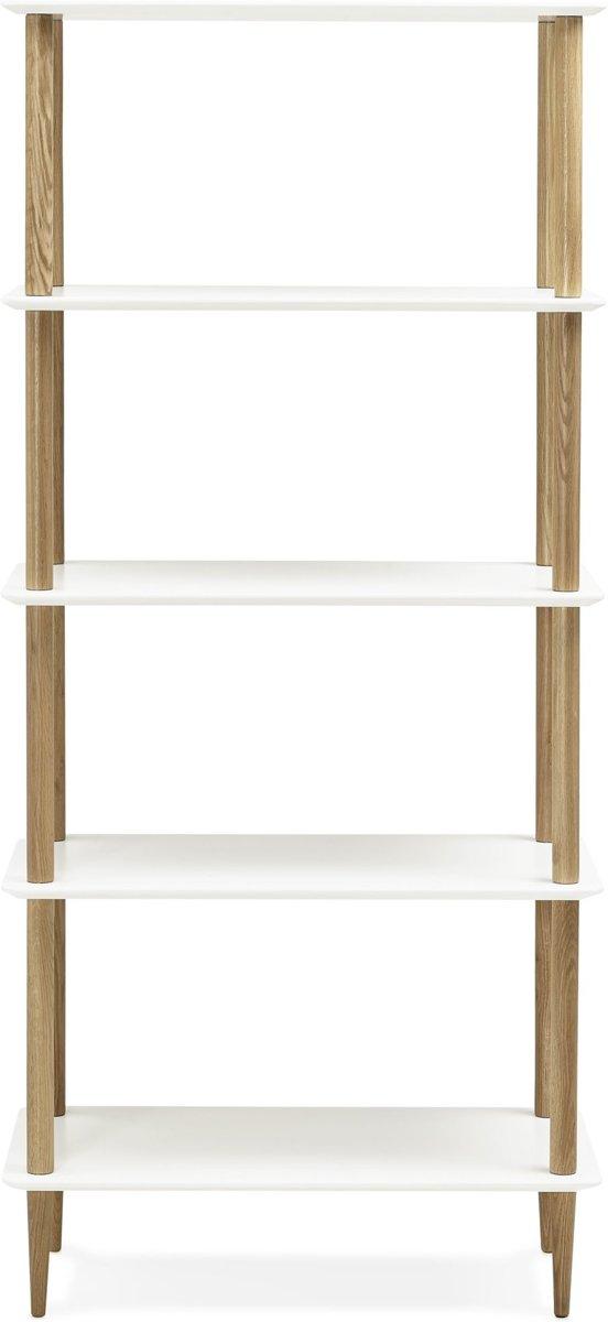 24Designs Open Boekenkast Sira - L80 X B40 X H180 - Hout - Wit