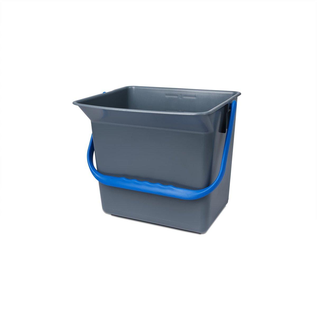 Doekemmer grijs met gekleurd hengsel - Blauw