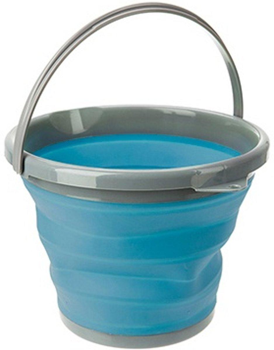 Summit - Pop-up - Emmer - Siliconen/kunststof - 10 Liter - Blauw