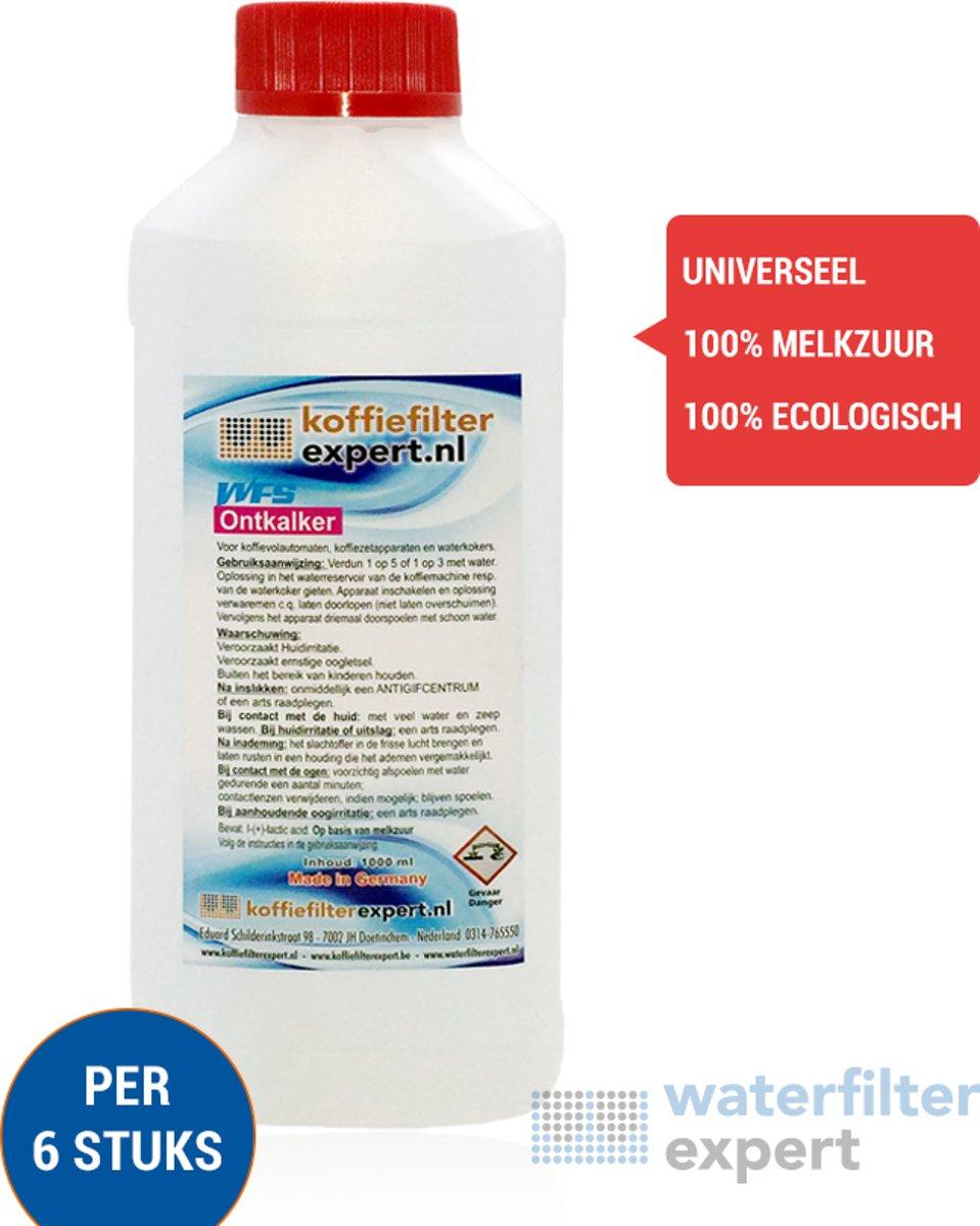6x icepure ICP-CMC601 250ml Vloeibare Ontkalker voor Espressomachines - 100% melkzuur - Saeco CA6700 / CA6701 - Delonghi Ontkalker DLSC003, DLSC200 - Jura - Melitta - Nivona - Aeg - koffiemachine - Waterkoker