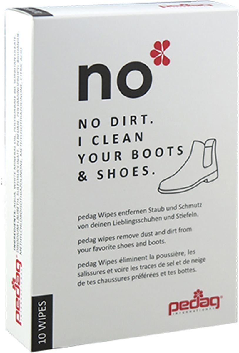 Shoe Wipes - schoonmaakdoekjes - perfect op reis - Pedag No Dirt. I Clean your boots and shoes 10 stuks