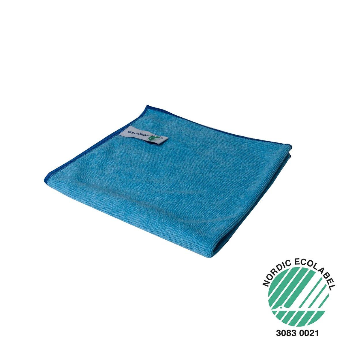 Wecoline Microvezeldoek - Gebreid - 40x40 - 10 stuks - Blauw