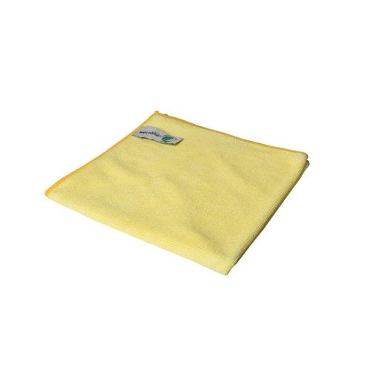 Wecoline Microvezeldoek - Gebreid - 40x40 - 10 stuks - Geel