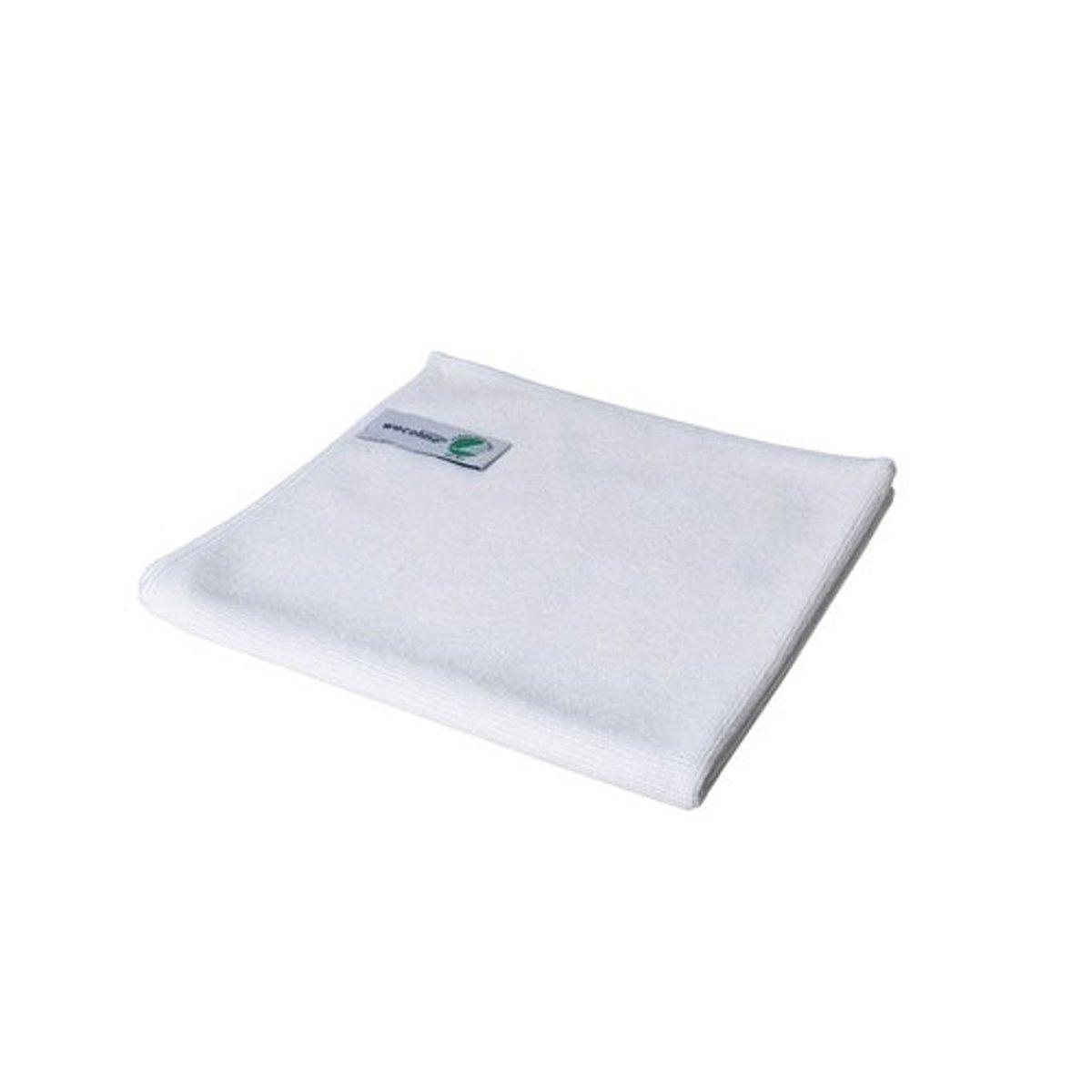 Wecoline Microvezeldoek - Gebreid - 40x40 - 10 stuks - Wit
