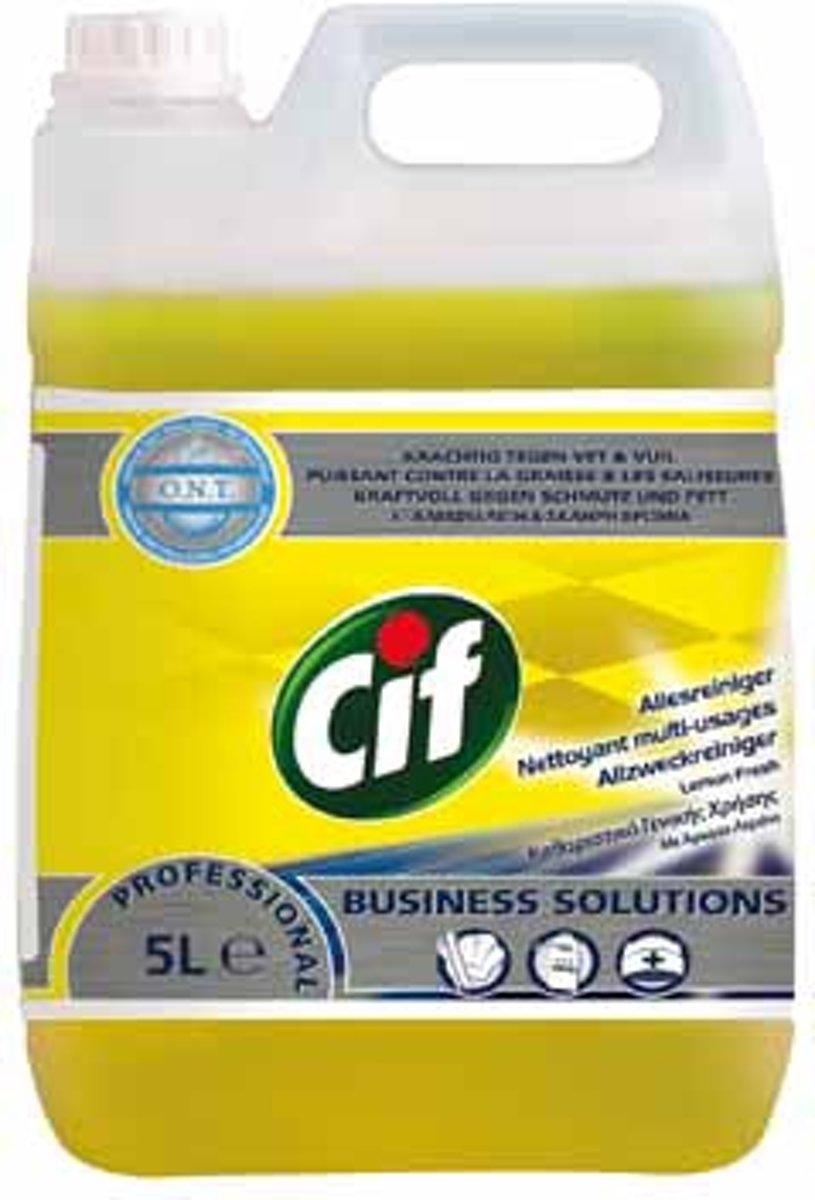 Cif allesreiniger citroenfris fles van 5 liter