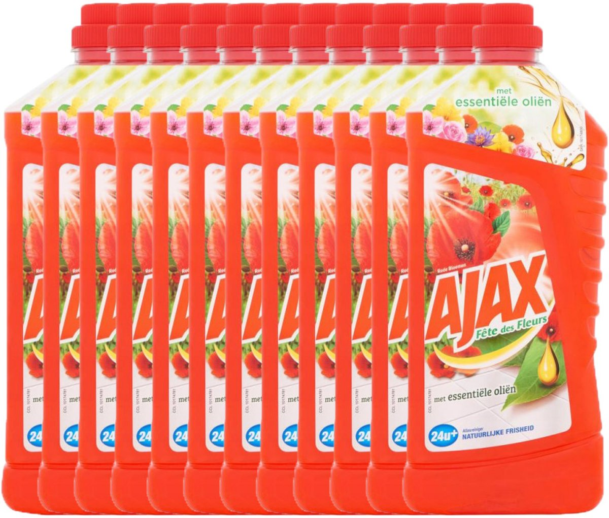 Ajax Allesreiniger - Red Flowers - 12 x 1,25l - Voordeelverpakking