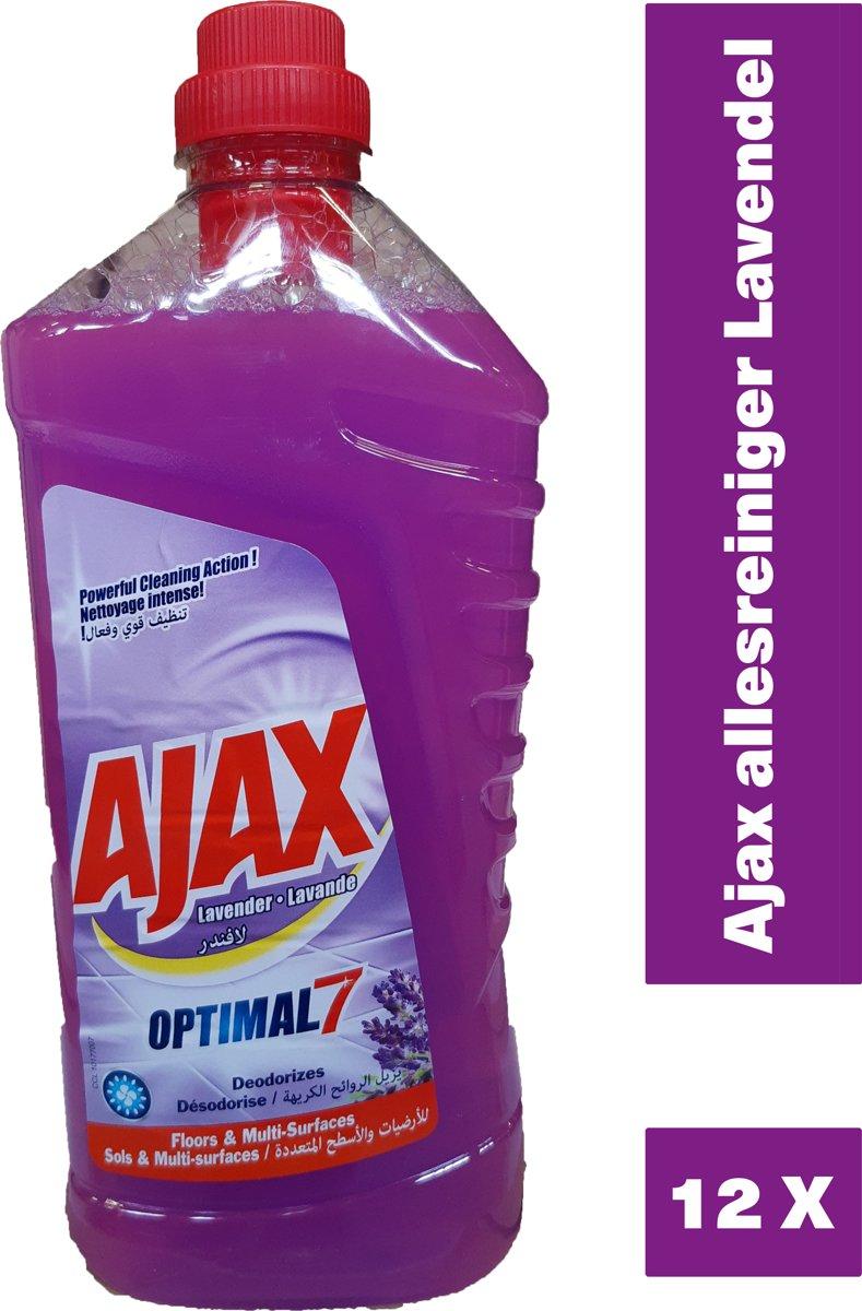 Ajax allesreiniger Lavendel - 12 x 1,25L - voordeelverpakking