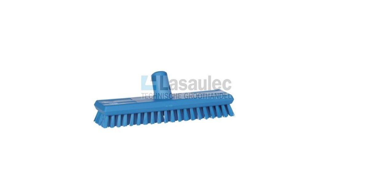 Vikan luiwagen / schrobber 27cm met watertoevoer en zeer harde polyester vezels blauw - 7041